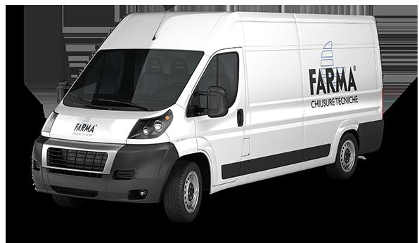 Furgone Farma per manutenzioni baie di carico e chiusure tecniche